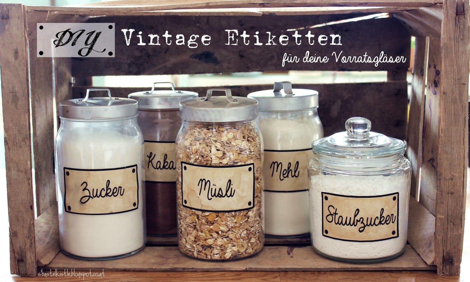 diy vintage etiketten f r deine vorratsgl ser freebie printables vinta. Black Bedroom Furniture Sets. Home Design Ideas