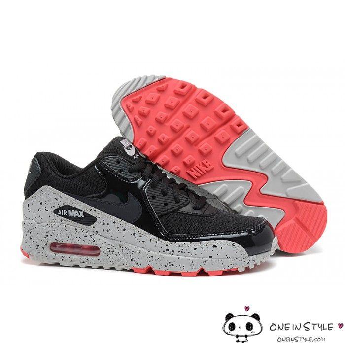 Nike Air Max 90 Shoes Black Gray Ink | Nike air max, Nike