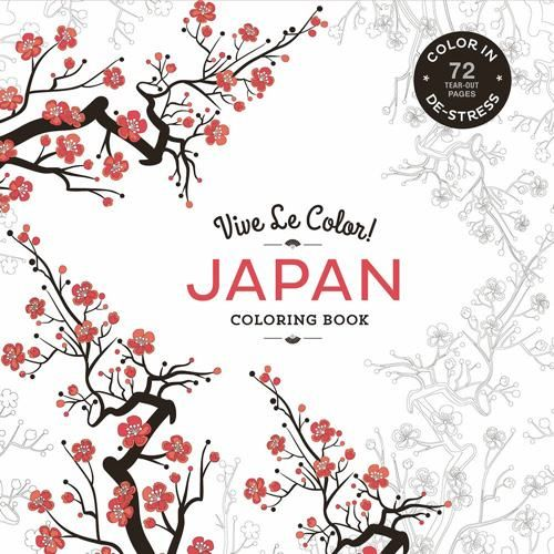 This Compact Sized Adult Coloring Book Offers 72 Tear Out Pages Of Beautiful And Meditative Designs Inspired By Japanese Motifs