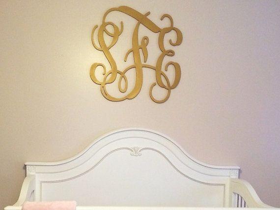 Monogram Wall Hangings nursery decor | wall hanging | wooden letters | nursery monogram