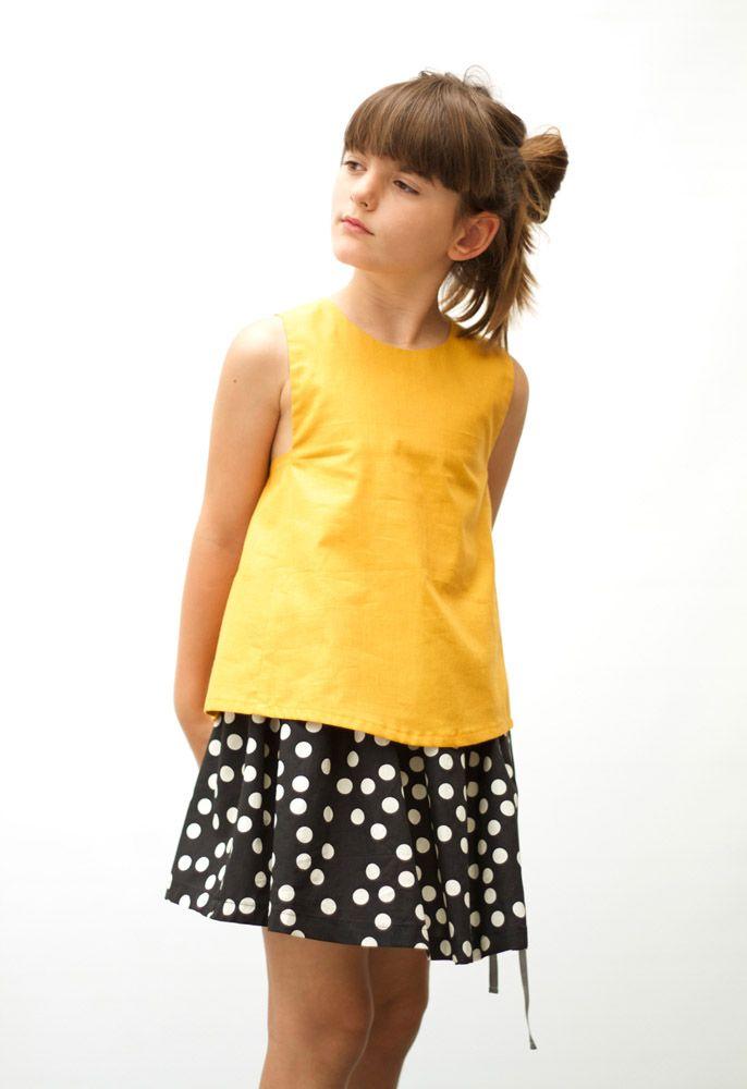 MOTORETA SS15 Angle blouse Naple Yellow #lookbook #motoreta