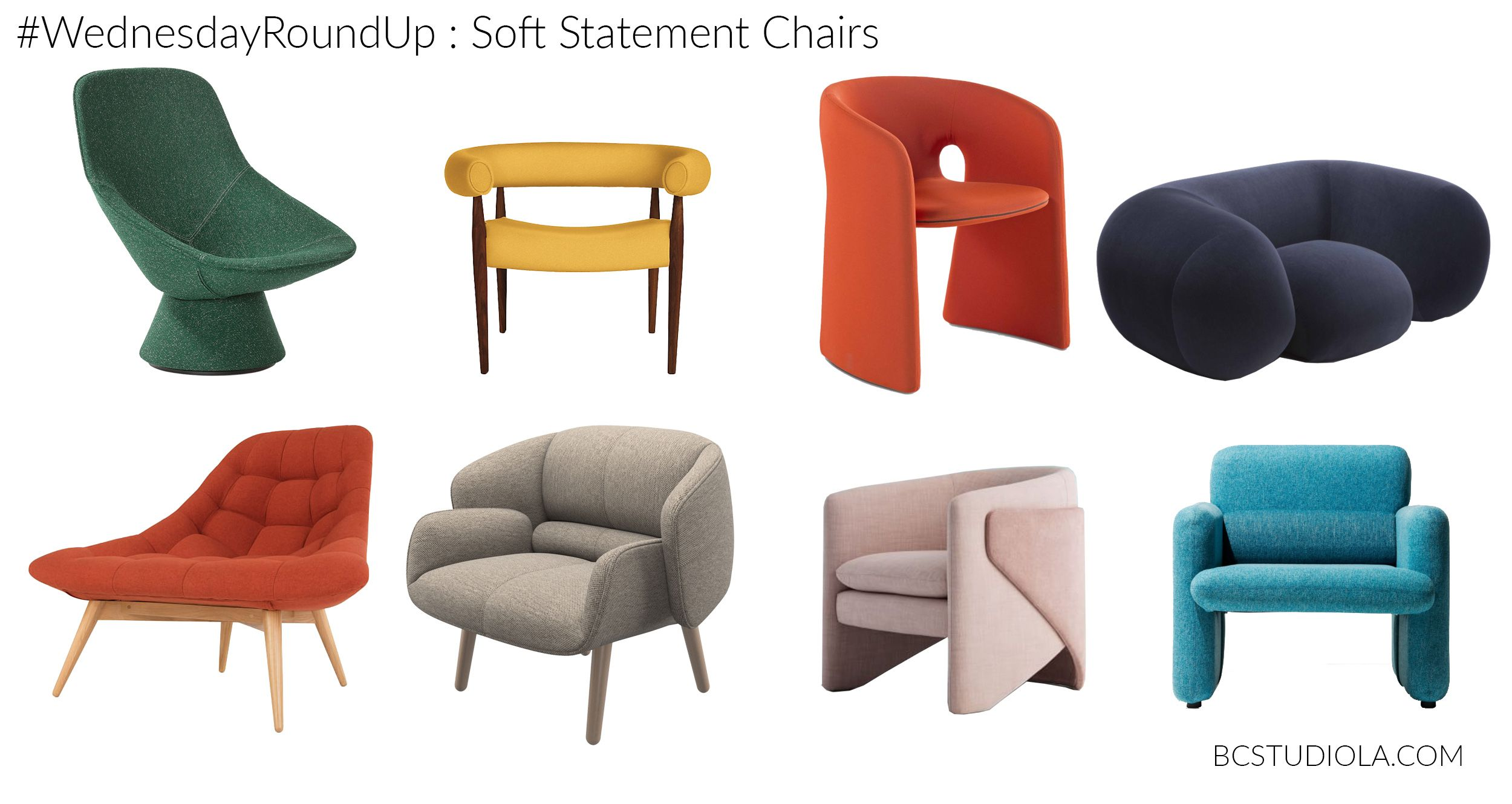 Wednesday Round Up Soft Statement Chairs Statement Chairs Chair Eames Lounge Chair