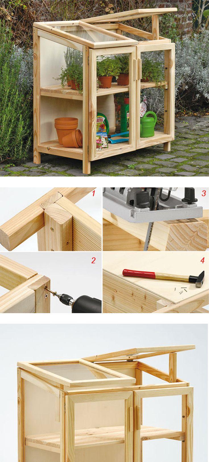 Serra in legno per balcone diy serra arredi da for Arredi da giardino in legno
