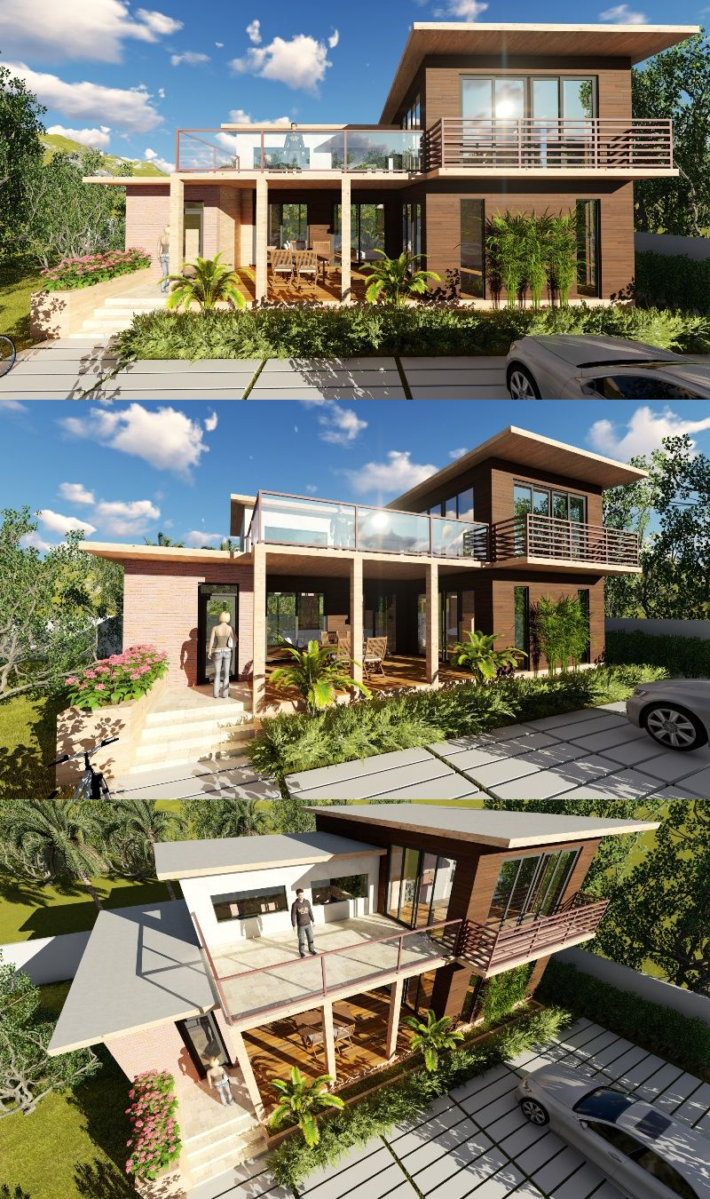 Two Storey Rest House Design Rest House House Design House Layouts