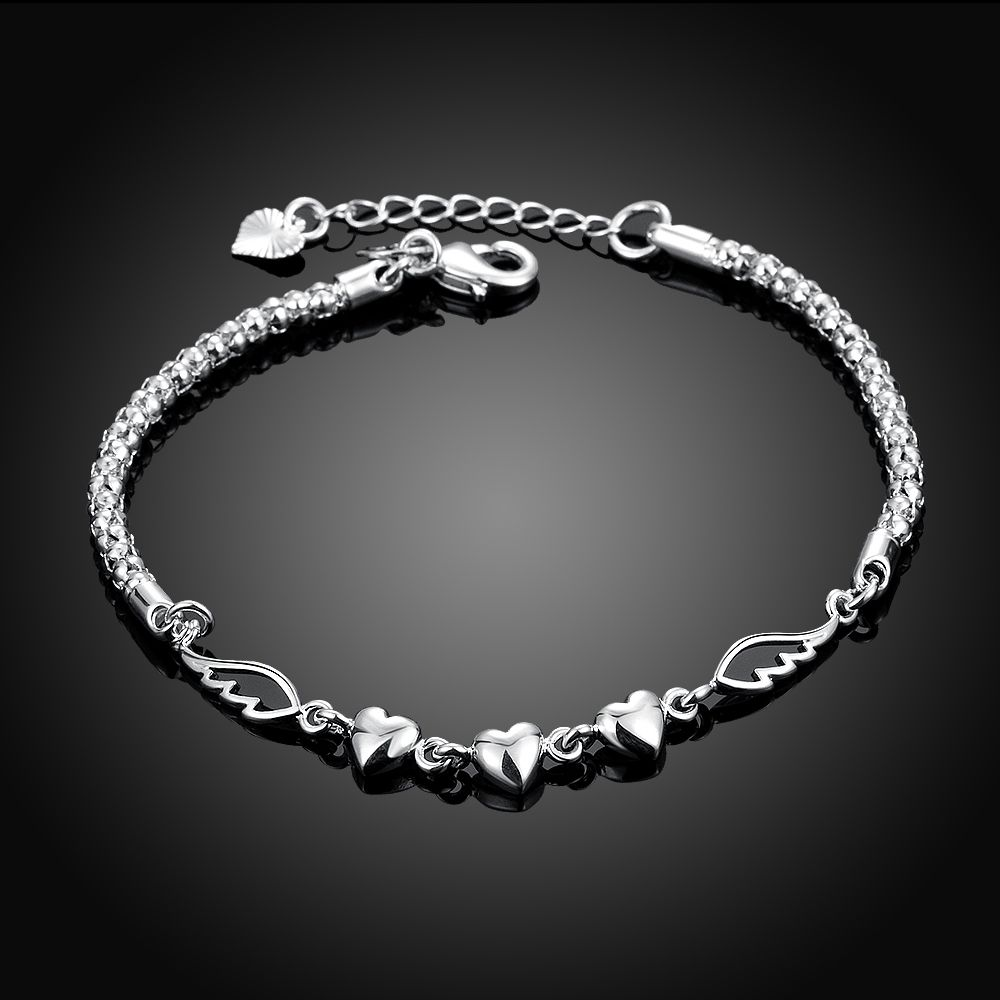 Click to buy ucuc girls jewelry bangles sterling silver mm chains