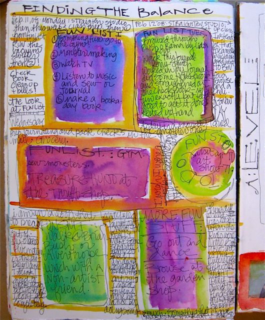 Colorful journal page