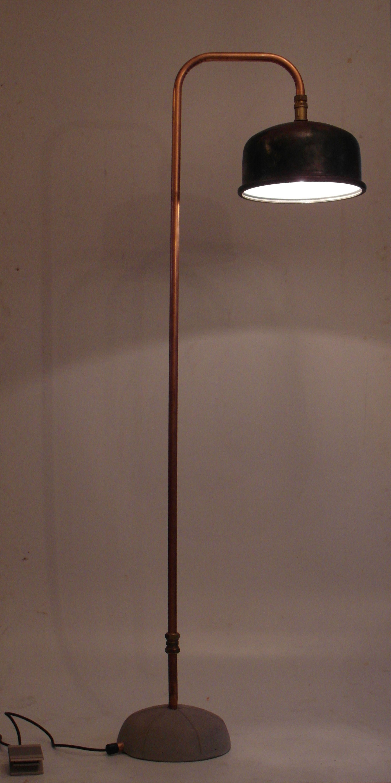 Staande lamp koper beton met dimmer lights