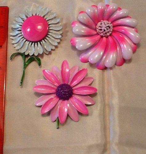 Vintage Enamel Pin Lot Pink Purple Retro Large Flower Power Groovy | eBay/lou*loves*lots