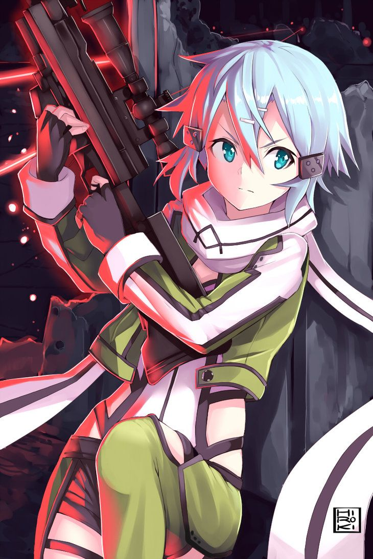 Sinon Sword Art Online Ggo By Hirokiart On Deviantart Anime