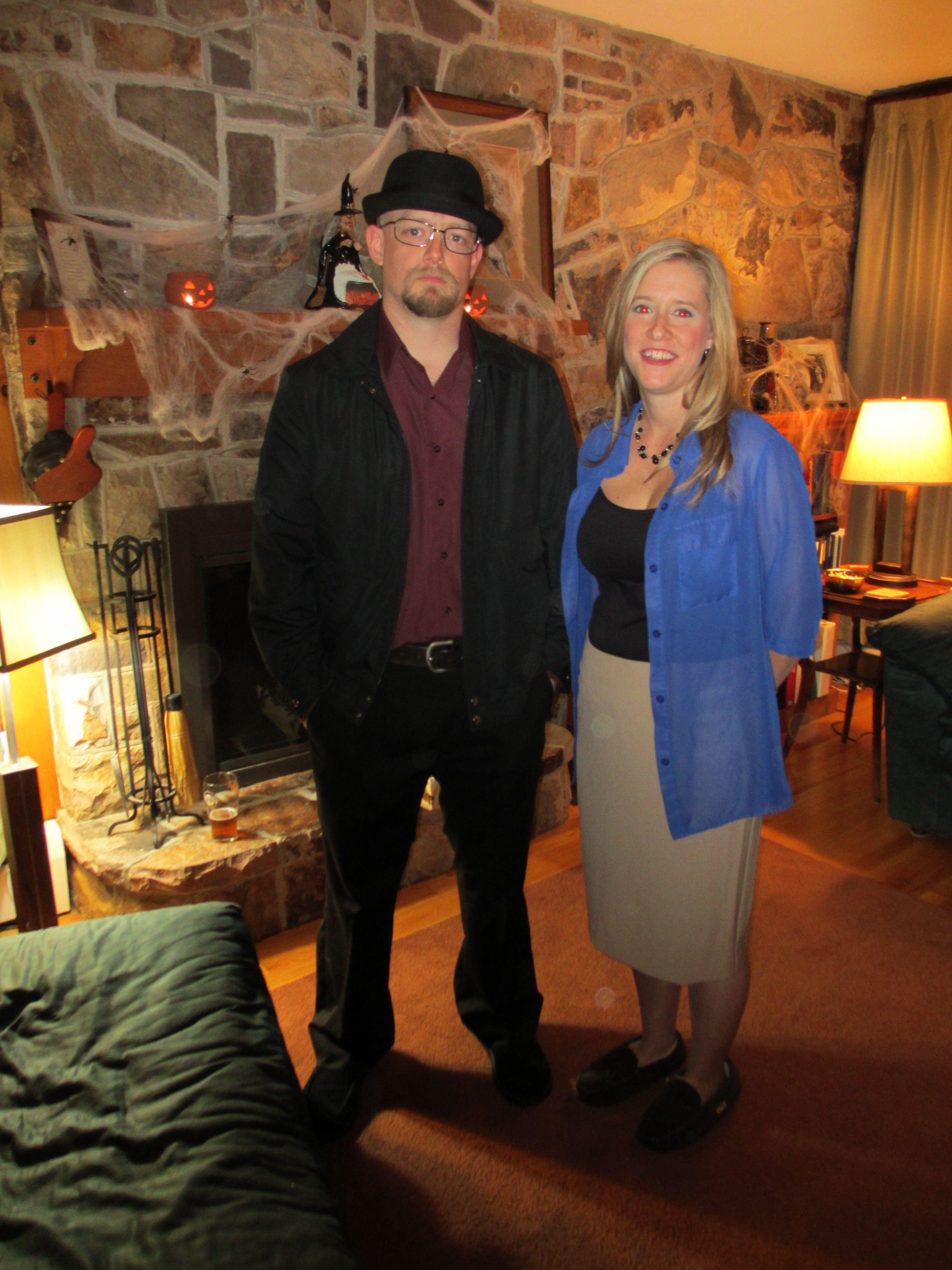 Breaking Bad Halloween costumes Walter White (as Heisenberg) and Skyler White  sc 1 st  Pinterest & Breaking Bad Halloween costumes: Walter White (as Heisenberg) and ...