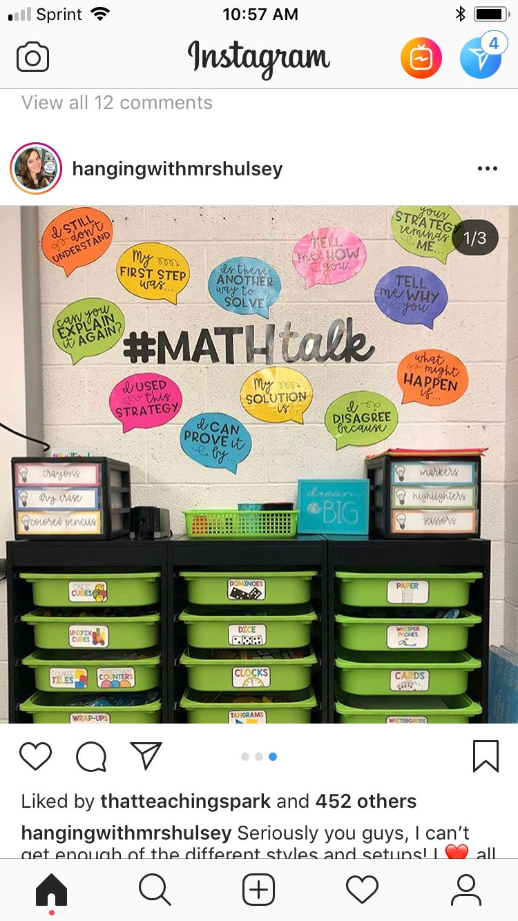 Math Talk Wall Elementary Math Classroom Math Classroom Decorations Math Classroom