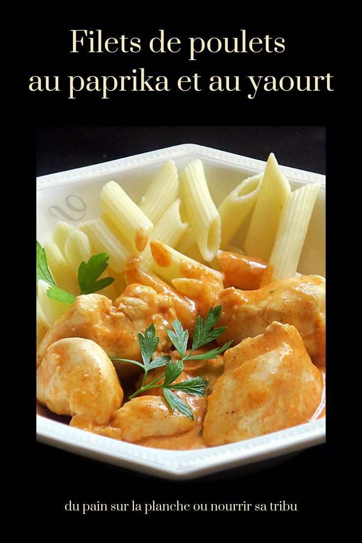 Filets de poulet au paprika et au yaourt #recettesympa
