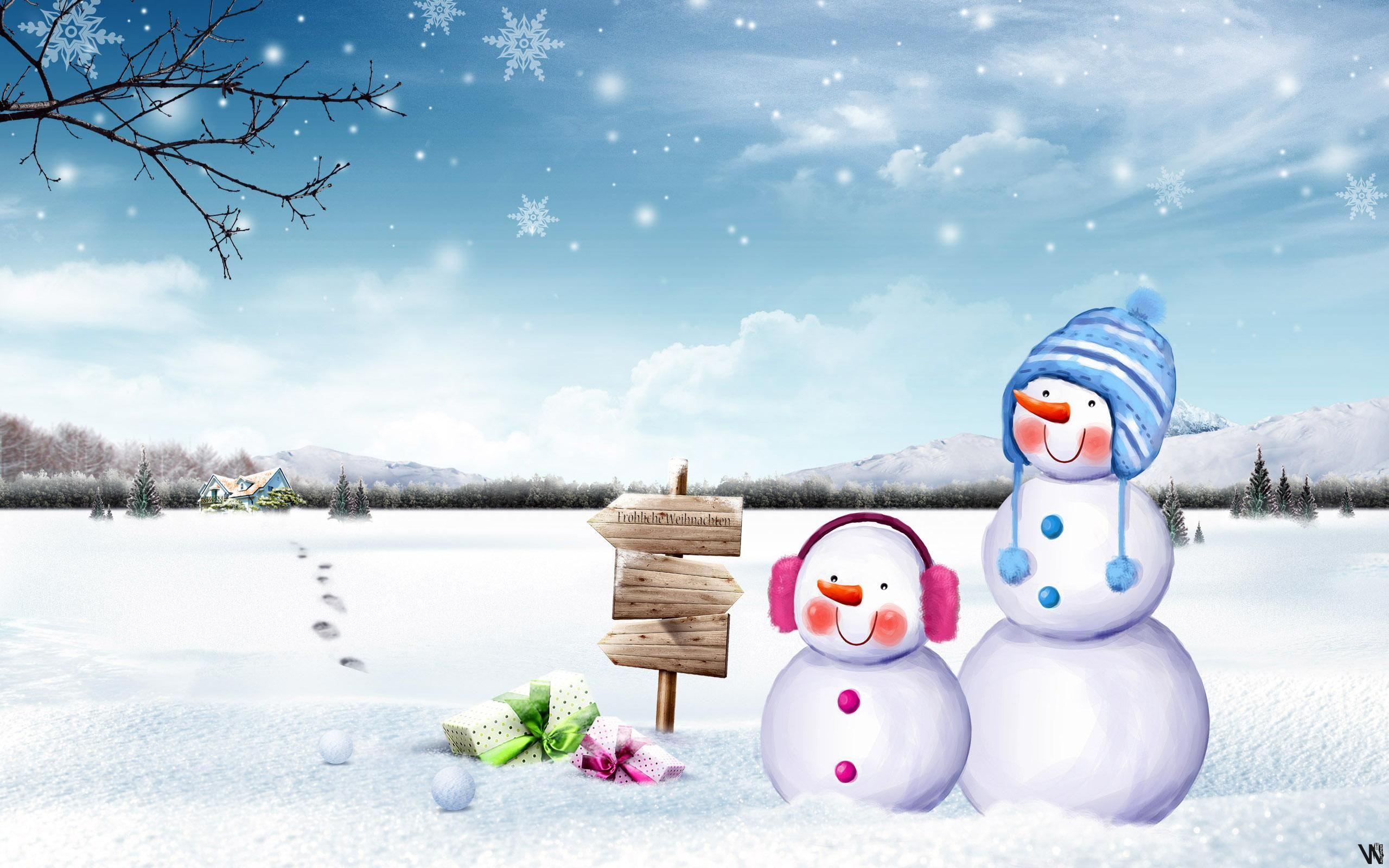 Cute Snowmen Hd Wallpaper Snowman wallpaper, Winter