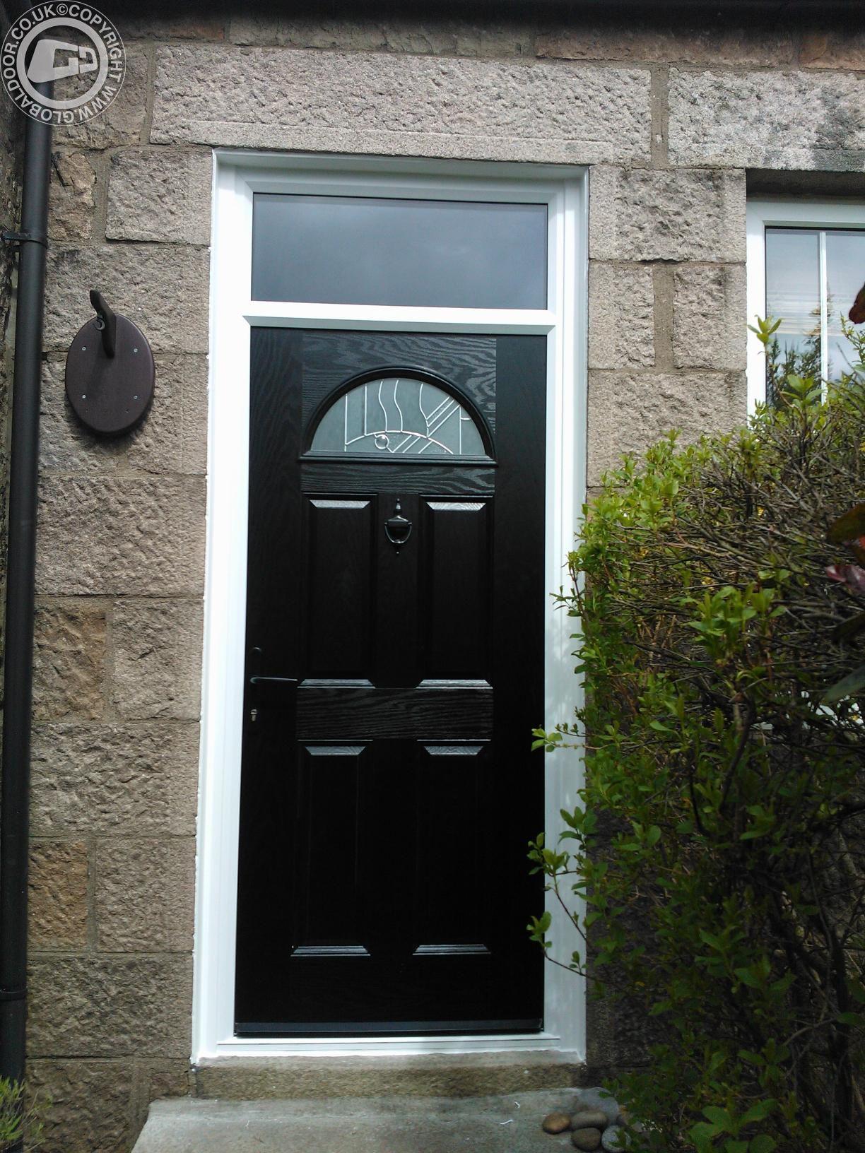 Black 4 Panel 1 Arch Global Composite Door Black Composite Doors