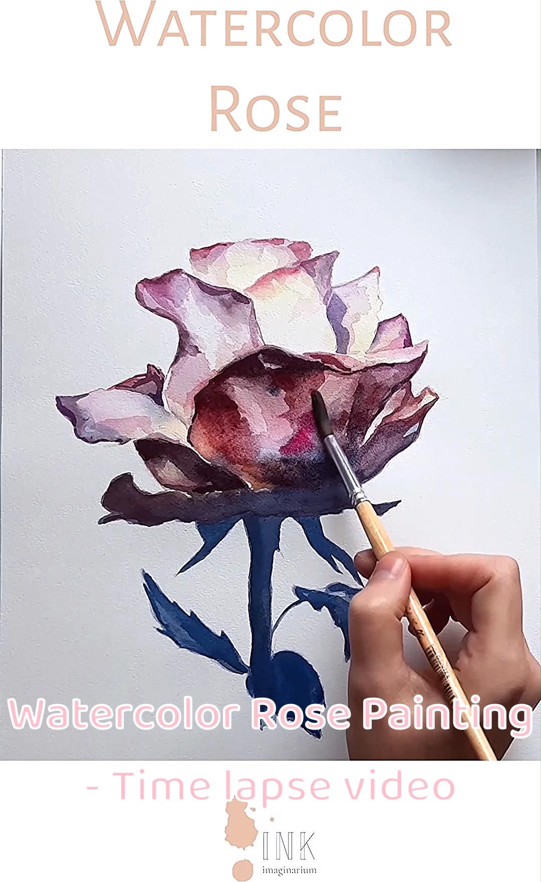 Enjoy watching the creative process behind this watercolor painting, how this beautiful rose is created and click if you want to see more videos in the blog! All painted by the visual artist Laura Manteca Martin from Ink Imaginarium. . . . . #watercolorvideo #watercolorprocess #watercolorspeedup #watercolorillustration #botanicalwatercolor #botanicalpainting #watercolorleaves #wallartdecor #botanicaldecor #watercolortimelapse #watercolorlove #watercolorobsession #watercolorrose #watercolorflower