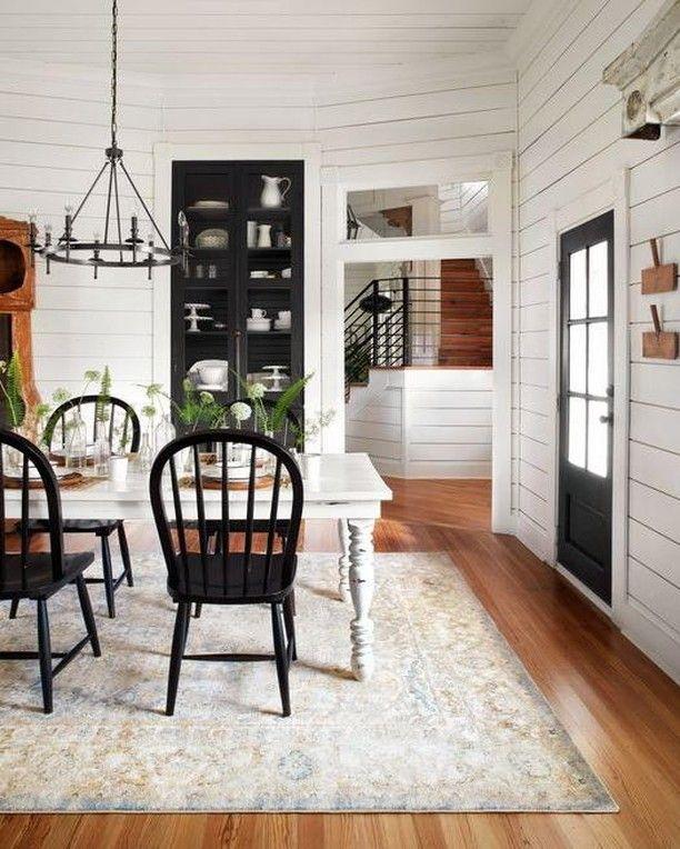 50 Modern Farmhouse Dining Room Decor Ideas 35: How Cute Is This Rustic/farmhouse Dining Room Featuring