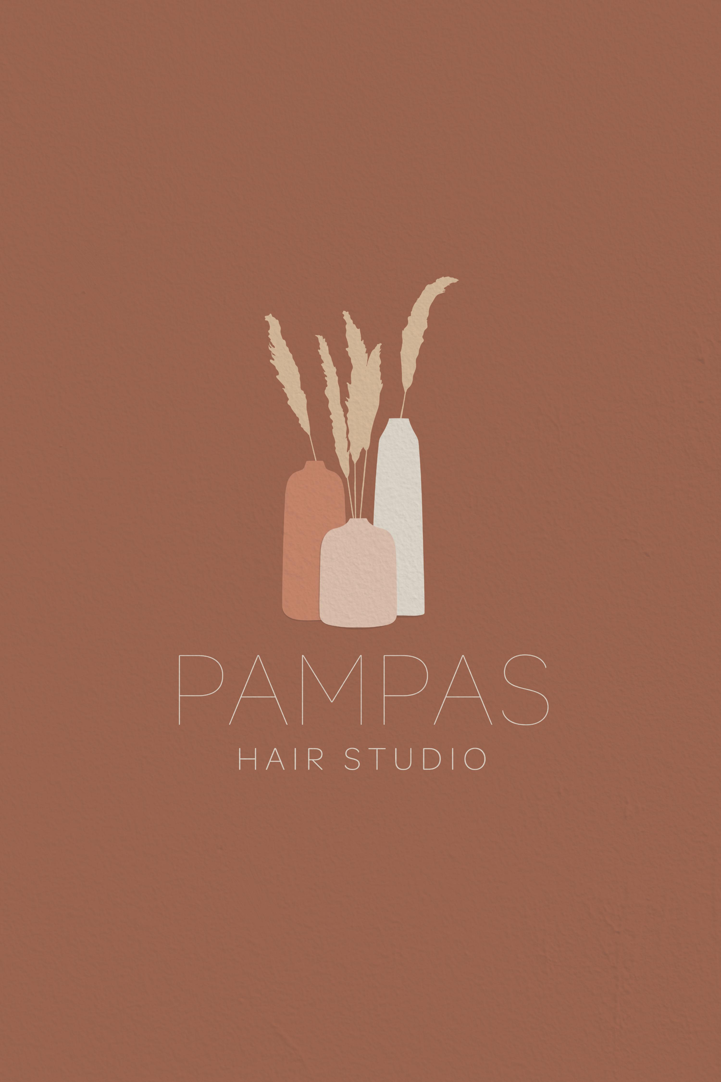 Pampas Hair Studio Logo Hair studio, Hair stylist logo