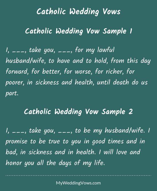 Catholic Wedding Vows: Traditional Wedding Vows Best Photos