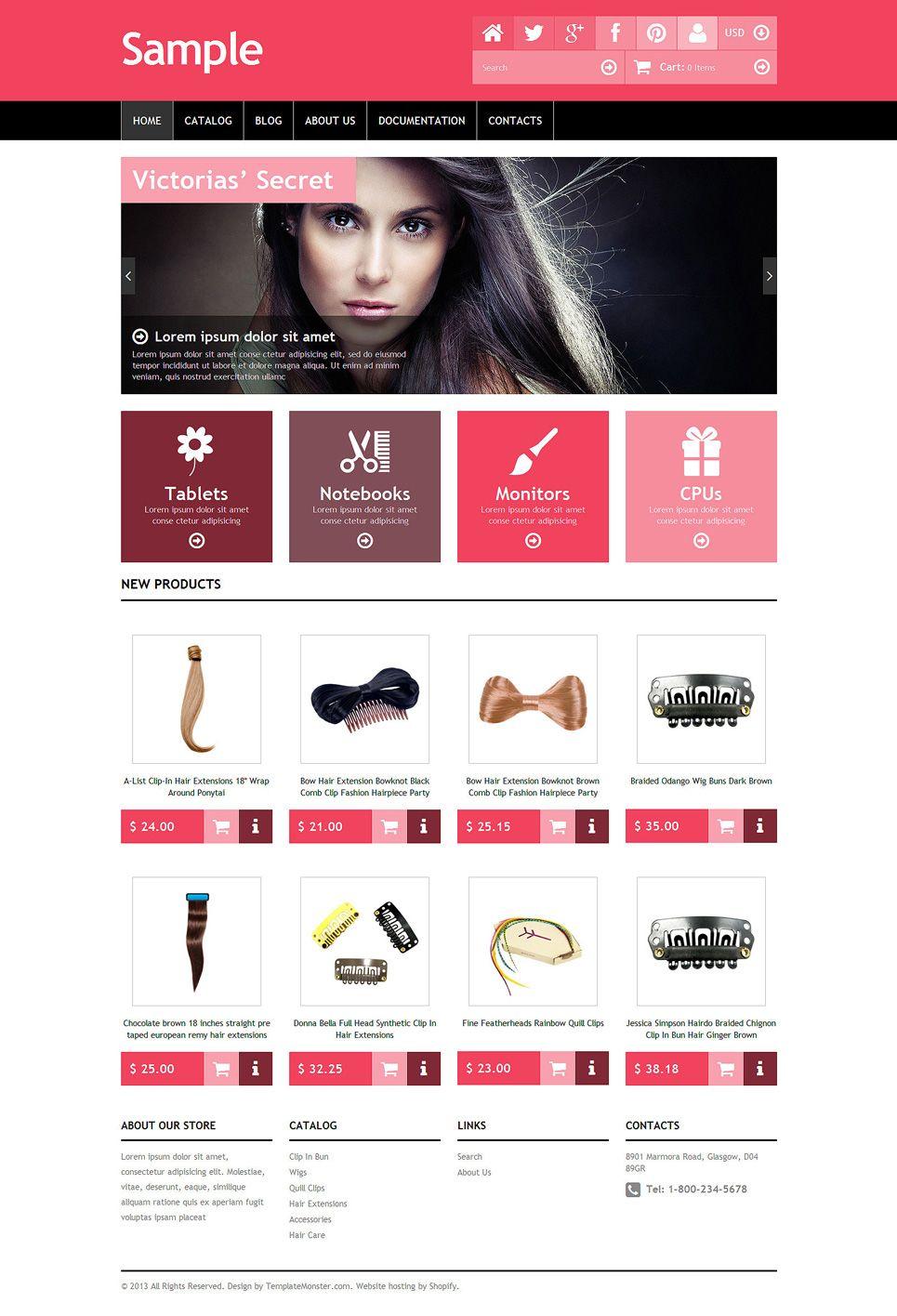 Free Sample Shopify Template Shopify Theme New Screenshots Big