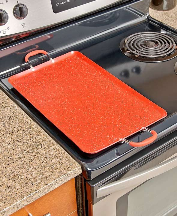 Expand Your Kitchen Cookware Collection With A Nonstick Double Burner Griddle It S Sure To Be A Favorite For Prepar Griddles Double Burner Stove Burner Covers