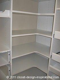Corner Shelves In A Walk In Closet Corner L And Corner Angle