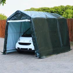 Photo of Tent garage 2.4×3.6m Pe 260 g / m² dark green waterproof garage tent ToolportToolport