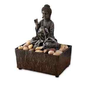 Zen Water Fountain Buddha Indoor Tabletop Waterfall Desk Decor Battery Operated Tabletop Fountain Water Fountain Indoor Waterfall Wall