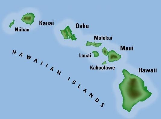 south point hawaii map Hawai I S Eight Island Chain Kure Island Is At The Northern End