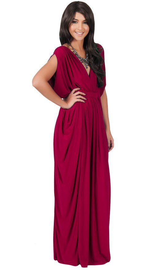 d91d30592358 KOH KOH Women's Diamond Weave Elegant Long V-Neck Evening Cocktail Kaftan Maxi  Dress: Amazon Fashion