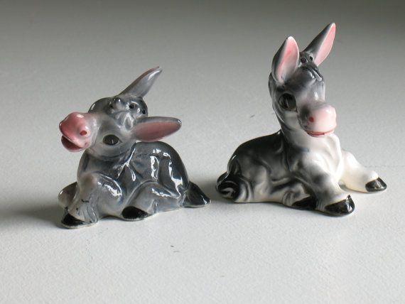 Vintage Norcrest Donkey salt and pepper shakers / by oldstufflove, $14.00