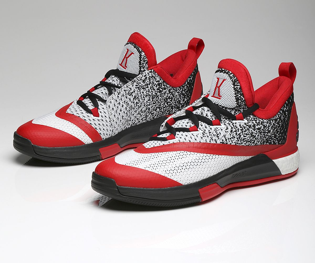 Adidas crazylight boost low 2016 bred black red mens basketball shoes - Kyle Lowry Adidas Crazylight Boost 2_5 1