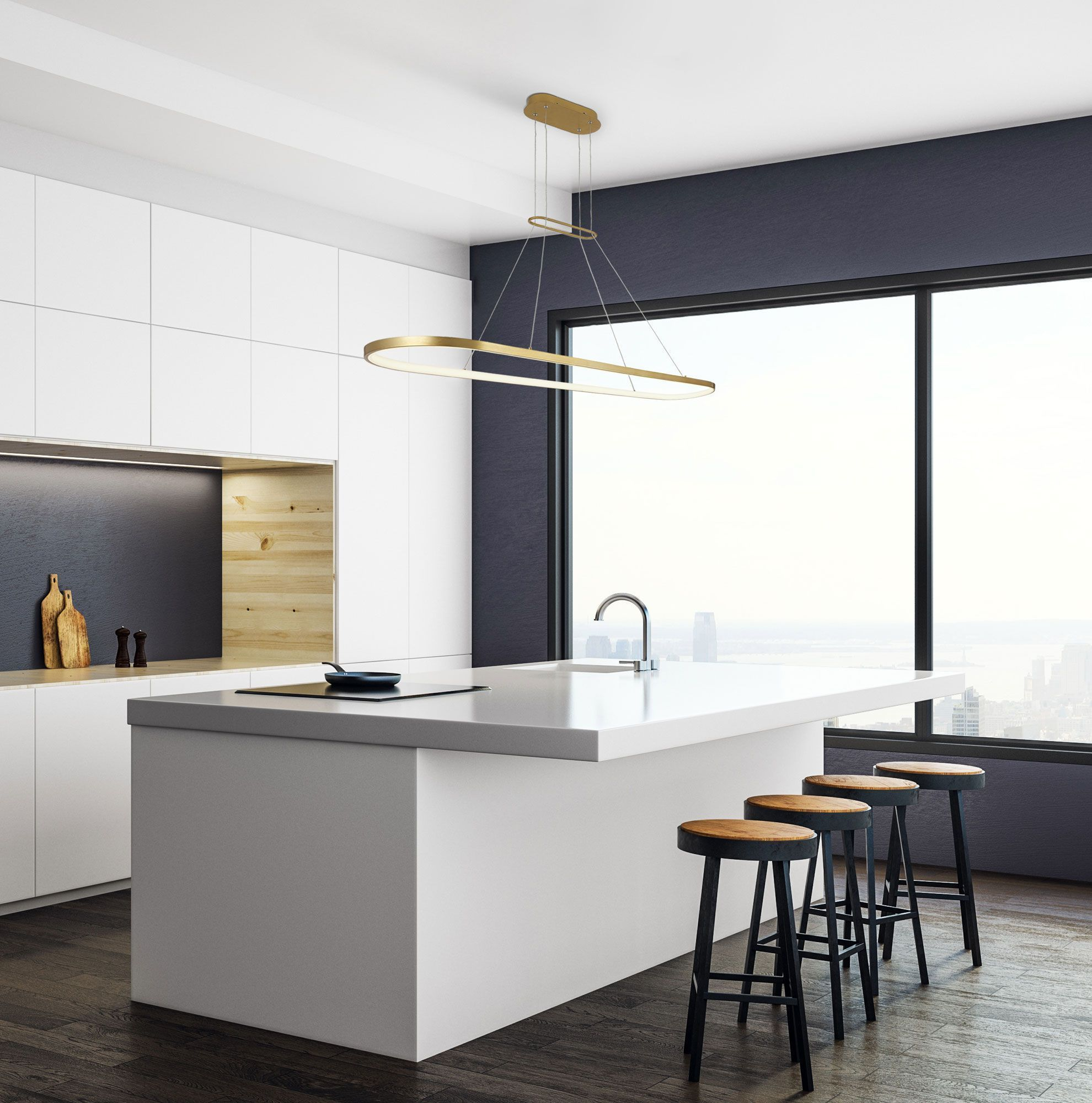 We Could Paint The Stools From Luke S A Dark Colour Any Colour Modern Kitchen Design Contemporary Kitchen Modern Kitchen