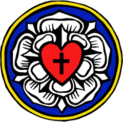 image relating to Martin Luther Seal Printable identified as Martin Luthers Seal or Coat of Palms - coloring website page youth