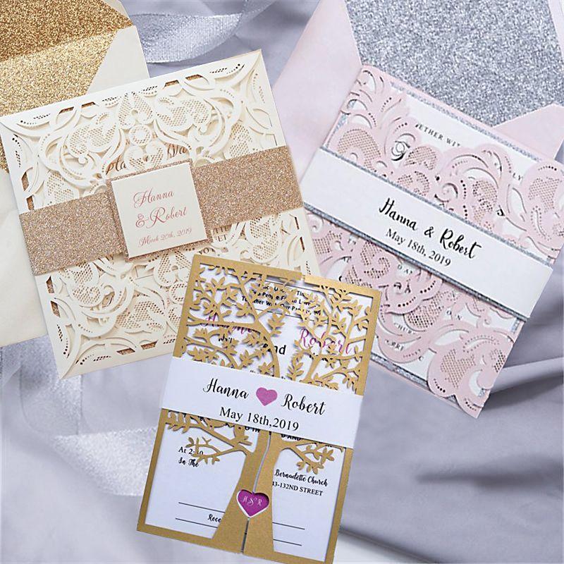 Edle Einladungs Laserschnitt Karten Mit Bandarole Erhaltlich Unter Www Akhofprint Ch Swissmade Swissdesig Karte Hochzeit Hochzeitskarten Hochzeitseinladung