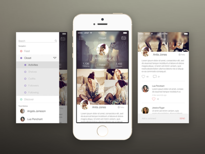 Fashion App Mockup Mobile App Inspiration Iphone App Design Mobile App Design