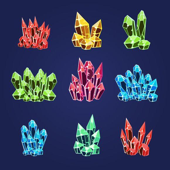 Magic Crystals Icons Set by TopVectors on @creativemarket