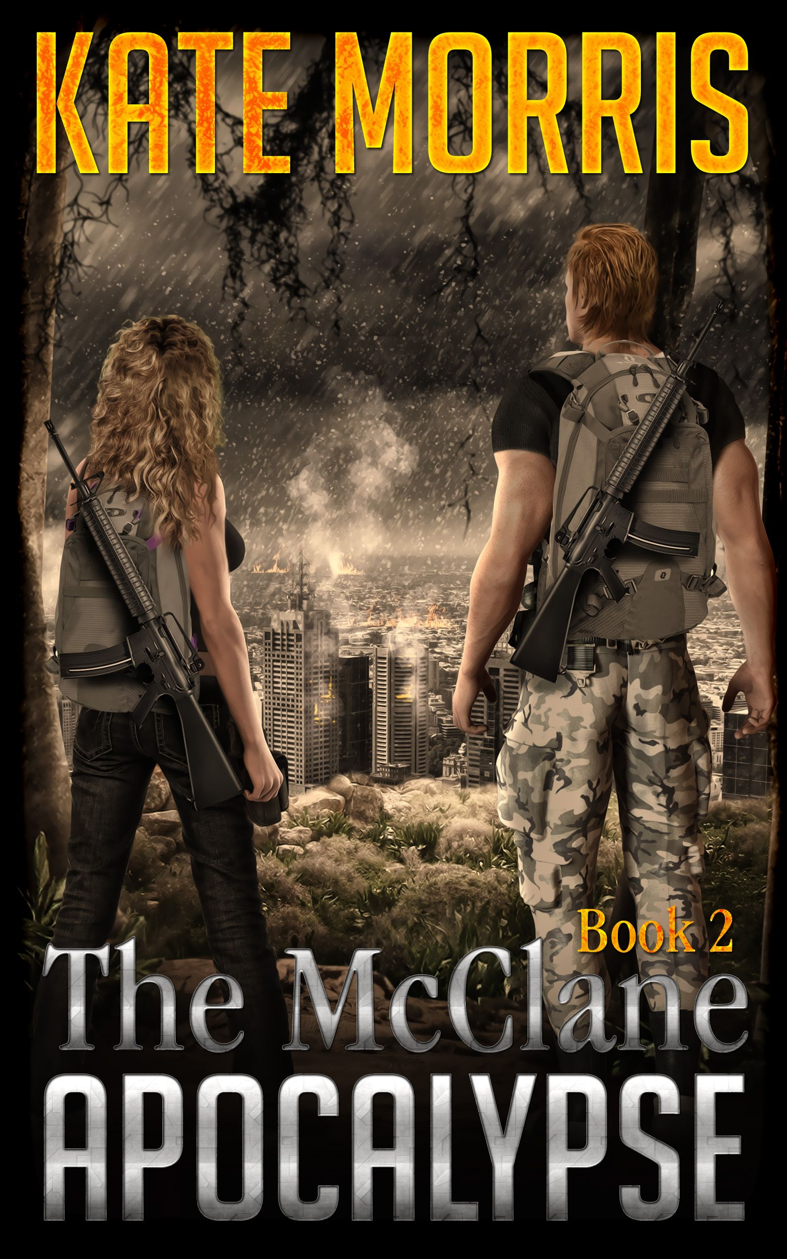 Book 2 out soon. Get book 1 on Amazon this week on sale before part two drops July 4th. Action-adventure-romance. The McClane Apocalypse: Book One by Kate Morris, www.amazon.com/... ON SALE THIS WEEK!! GET IT NOW BEFORE BOOK 2 RELEASES IN 3 WEEKS!