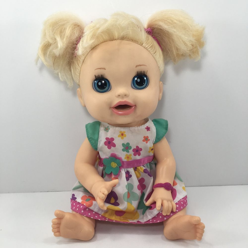 2012 Baby Alive Doll Real Surprises Moves Talks English Spanish Blonde 25