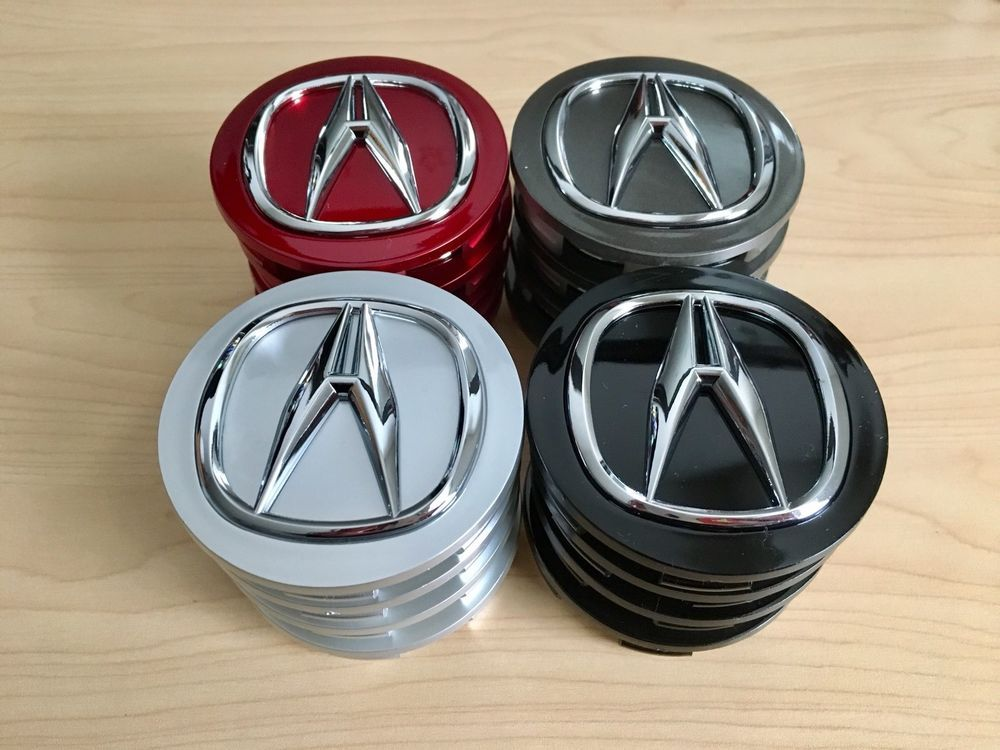 Red Charcoal Gray Silver And Black Acura 69mm Wheel