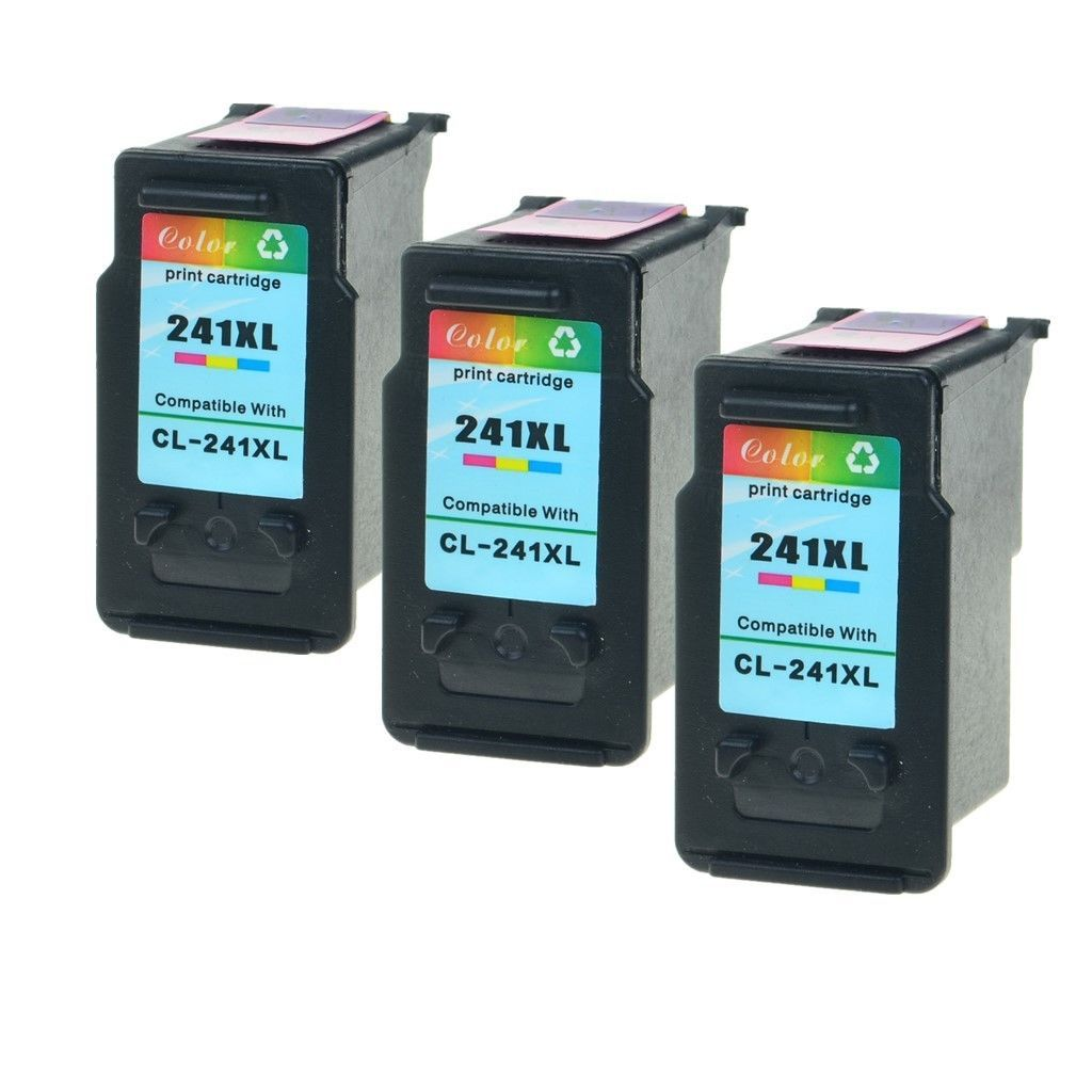 3x Compatible For Canon CL 241 XL 241XL Color Ink PIXMA MX439 MX452 MX459 MX472