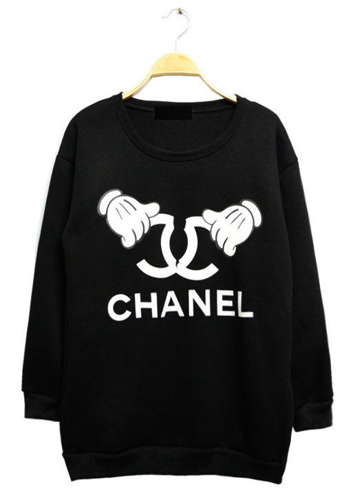 dd3a4763daa Mickey Chanel Sweater | STYLE | Chanel sweater, Fashion, Printed ...