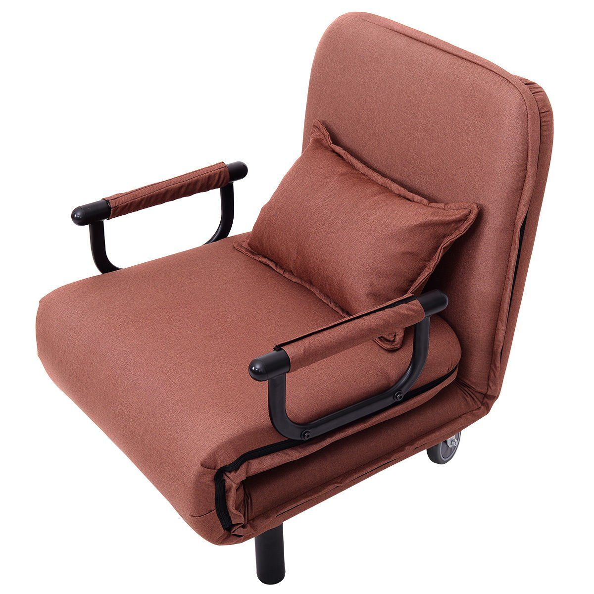 Convertible Sofa Bed Folding Arm Chair Sleeper Leisure