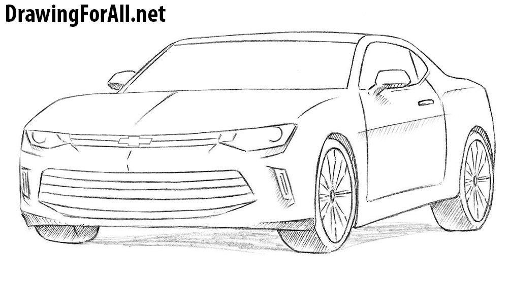 How To Draw A Chevrolet Camaro Desenhos De Carros Camaro