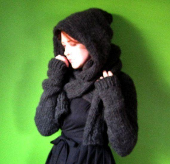 PDF knitting pattern- Minx Hooded Shrug | Patrones y Mundo