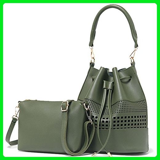 ea910b56a87d Iskas Women Handbag Faux Leather Shoulder Bag Hollow Design Lady Tote  Drawstring Bag