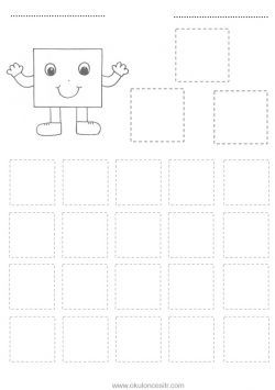 Kare Kavrami Calisma Sayfasi Free Square Worksheets Download