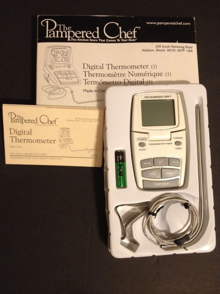 The Pampered Chef Digital Thermometer 2243 Retired Candy Meat Oven