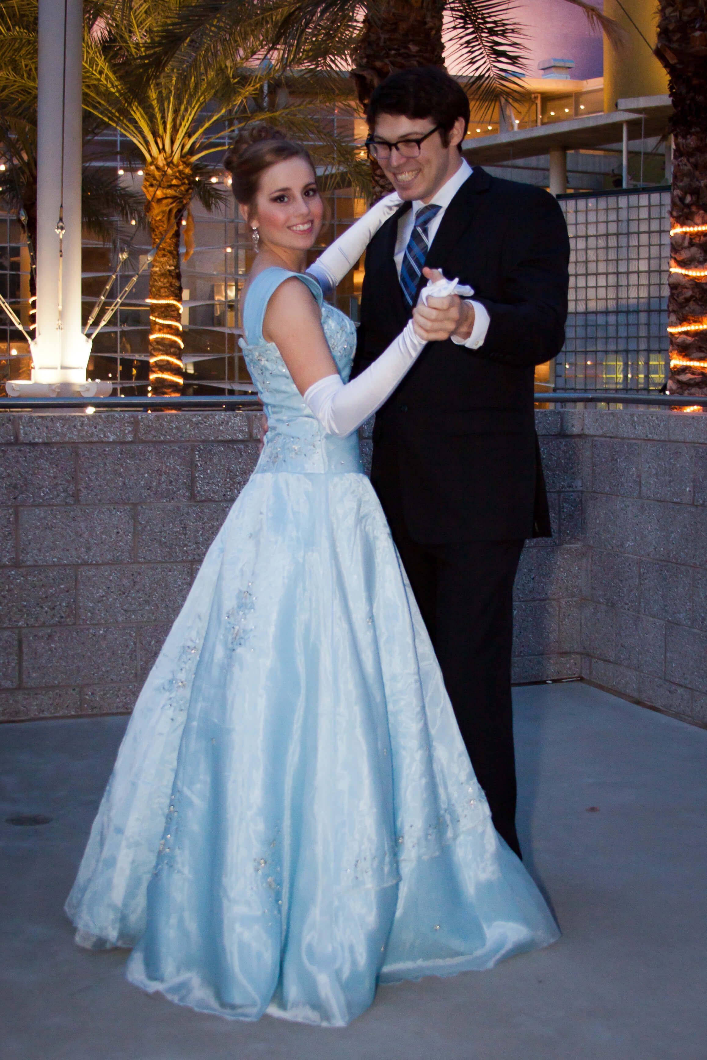 Ella Modest Prom Dress - Blue Modest Prom Dress - Prom Dress with ...