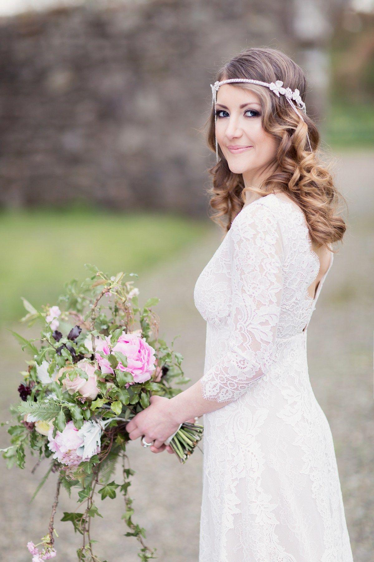 Scottish wedding dresses  A Scottish Springtime Fairytale Wedding for a Claire Pettibone