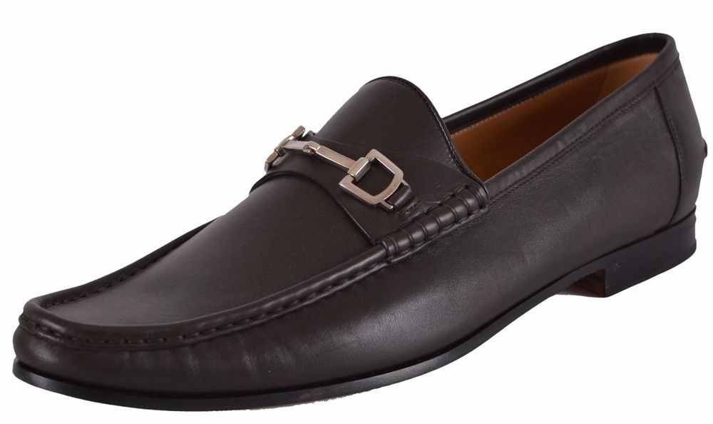 99cddff5b2b336 NEW Gucci Men's 253303 Brown Leather Horsebit Loafers Shoes #Gucci  #LoafersSlipOns